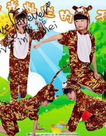 六一儿童小动物演出表演服装小猫老鼠小猪卡通幼儿园睡衣舞蹈服饰qss