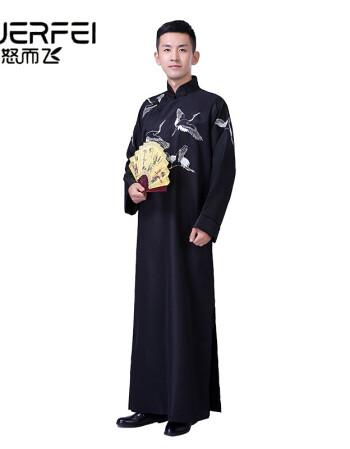 送领导送家人相声服大褂男快板民国长衫唐装古装长袍刺绣花纹中国风
