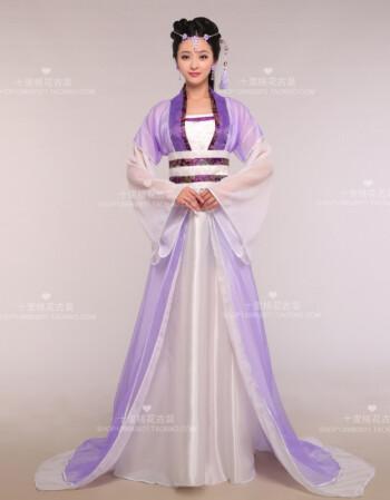 蒂卡黛古装仙女装拖尾性感贵妃长裙公主七仙女 汉服襦裙写真舞台演出