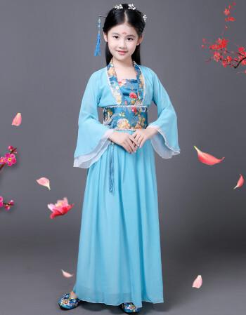 uyuk儿童古装仙女裙装汉服公主贵妃改良小女孩影楼表演写真舞蹈演出服