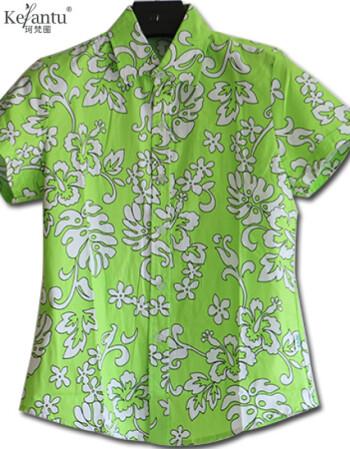 珂樊图海南岛服衬衫男夏海滩度假三亚旅游衣服制服衬衣女情侣度假沙滩