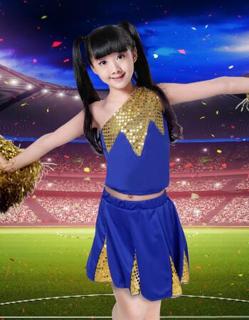梅丽亚娜 2018夏季新款学生成人拉拉队服啦啦操服装舞蹈服装足球宝贝图片