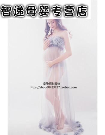 7折孕妇照服装性感黑蕾丝裙孕照写真拍照影楼摄影服孕妇照片写真服装