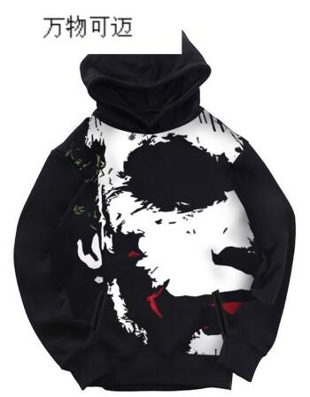 蝙蝠侠iia周边周边圣徒joker卫衣小丑男大骑士衣服嘻哈dc黑道摇滚宽松1外套电影攻略图片