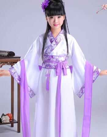 儿童古装女汉服对襟襦裙仙女服装儿童cos服装唐装写真