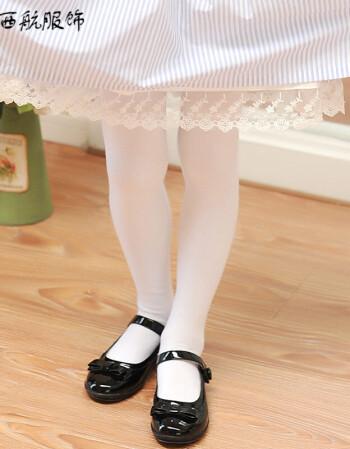 挺龙2018新款女童装打底裤袜2018新款小学生校服女生白色黑色连裤袜