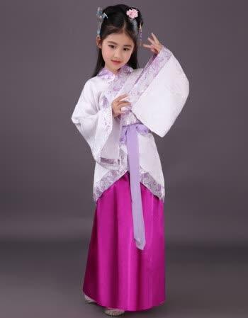 儿童古装仙女公主中国风汉服女童套装小姐古筝演出服女童古装儿童