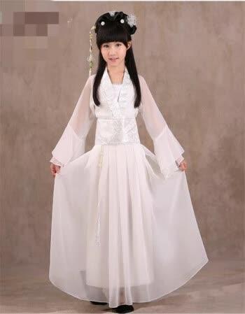 儿童古装仙女服小女孩公主裙女童汉服演出服表演古筝摄影舞蹈服装