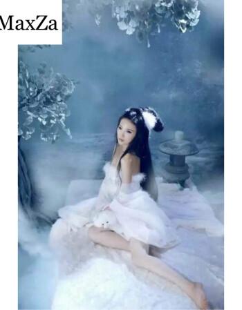 狐狸古装画皮古装服装仙女白薄纱性感唐代狐狸狐仙古装女摄影写真