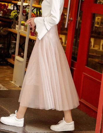 春夏季新款小清新纱裙仙女上衣配裙子港味两件套衬衫网纱时尚套装裙图片