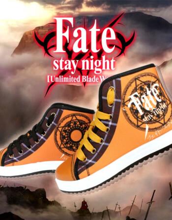 阿坡饵二次元动漫周边鞋子fate印象刀剑神域火影忍者刀剑乱舞帆布鞋