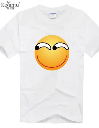 珂樊图贴吧显卡吧百度表情滑稽表情斜眼猥琐短袖t恤衣服 款式6 xs图片