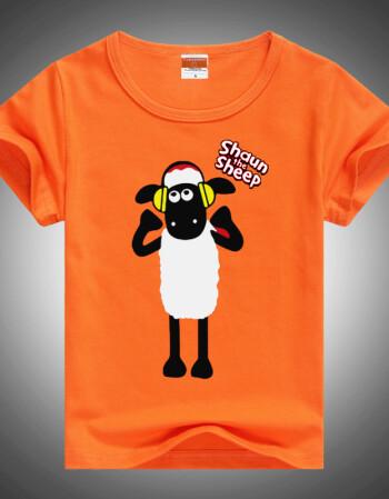 diy棉短袖儿童空白手绘t恤幼儿园t恤订制印图印字logo文化衫广告sn