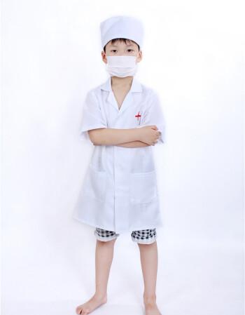 儿童小医生护士服宝宝职业扮演表演服装幼儿园过家家演出服白大褂