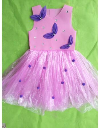 新款儿童环保服diy手工制作时装秀演出服幼儿园服装女亲子走秀裙ww 全