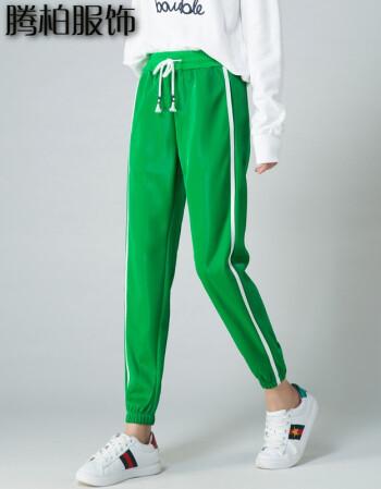 九分裤哈伦绿色夏