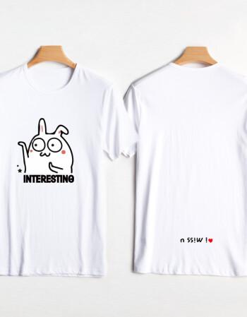 可爱卡通情侣装t恤