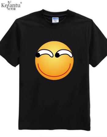珂樊图贴吧显卡吧百度表情滑稽表情斜眼猥琐短袖t恤衣服 款式5 xs图片
