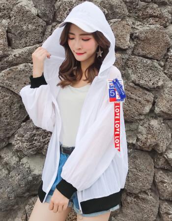 紫蒙夏季新款潮韩版可爱学生高中初中生女生防晒衣外套夏天中学生休闲