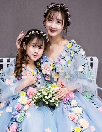 2018新款婚纱礼服蓬蓬款同款春夏演出服花仙子礼服新娘长拖尾 礼服款图片