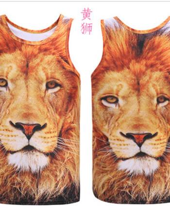 抖音搞笑大猩猩背心男夏季搞怪3d动物猴子短t恤大码衣服无袖马甲 潮