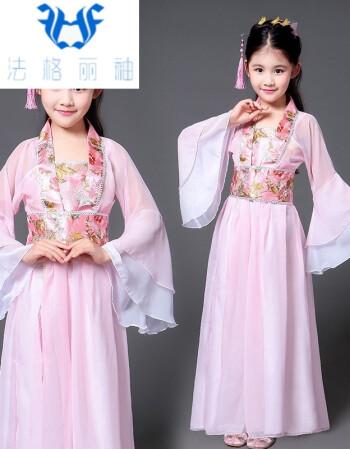 儿童古装唐装贵妃服装女孩古代公主古筝汉服女童古装仙女装演出服lll