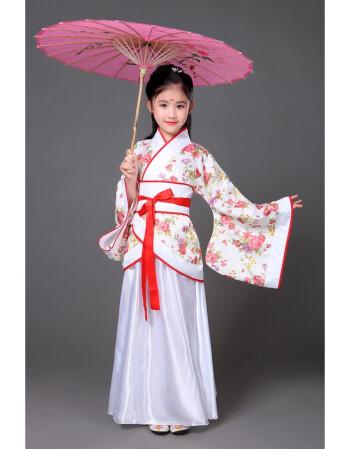 儿童古装七仙女公主裙古筝表演服古代唐装汉服小女孩国学表演出服qc