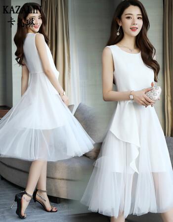 礼服网纱白色
