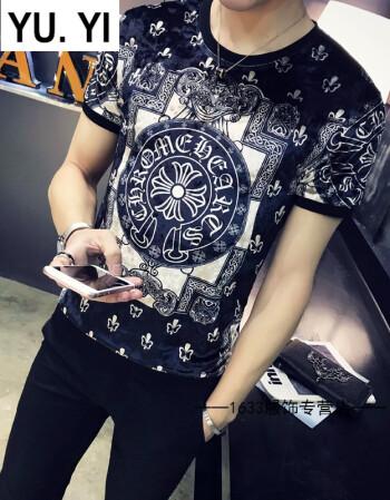 纹身衣服黑社会人兄弟装3d冰丝花纹短袖t恤男小伙个性