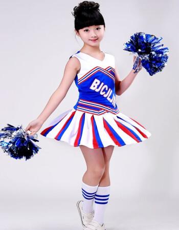 儿童啦啦队服装男女童小学生运动会啦啦操服儿童体操健美操演出服 桔图片