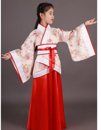 六一儿童古装唐装女童古装仙女装表演服古代公主古筝汉服贵妃服装
