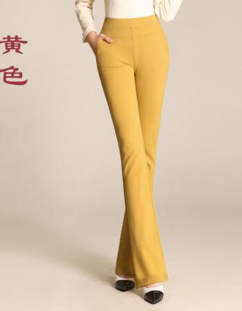 女装 休闲裤 喜莱多(xilaiduo) 2016秋冬新款白色针织微喇裤女裤子