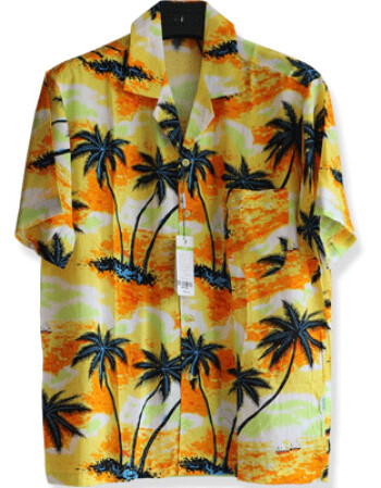 珂梵图沙滩套装男海南岛服衬衫男加肥加大家居宽松短袖衬衣三亚旅游薄