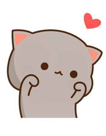 蜜桃猫图案t恤衣服可爱qq表情包情侣装微信礼物学生男女朋友短袖 图案