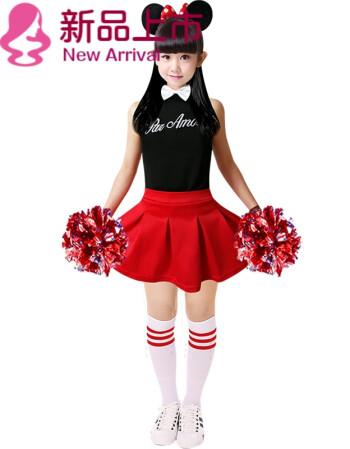 世界杯俄夏季新款儿童啦啦操演出服韩版男女足球啦啦队舞蹈服套装定制图片