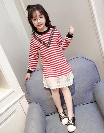 子春秋款8儿童9韩版10长袖公主裙中大童小女孩12岁10岁女童夏天的裙子