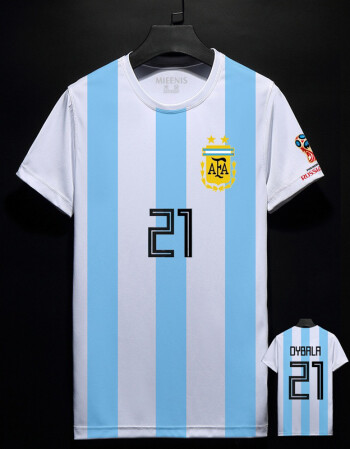 阿根廷球衣2018世界杯t恤男足球梅西10号阿奎罗 迪玛利亚短袖t恤 11图片
