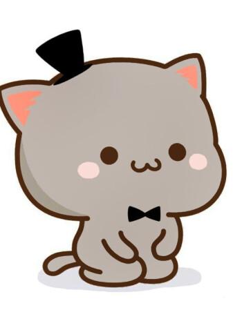 蜜桃猫图案t恤衣服可爱qq表情包情侣装微信礼物学生男女朋友短袖 7 m