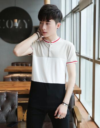 13岁男孩子t恤帅气韩版14中大童短袖青少年圆领15-16图片