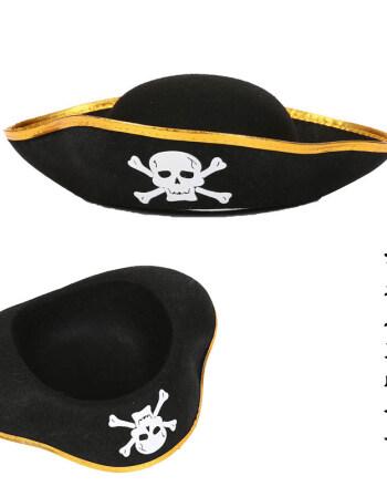 cosplay头饰万圣节帽子海盗骷髅帽加勒比海盗帽子杰克