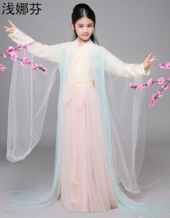 三生三世十里桃花白浅cos同款儿童古装演出服女仙女服装汉服sn8911