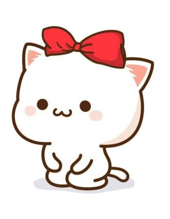蜜桃猫情侣装t恤衣服微信qq表情包图案可爱礼物学生男女朋友短袖 8