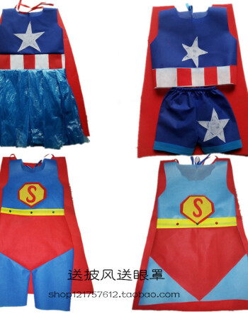 环保衣服装儿童时装秀演出服手工超人儿童幼儿园服装子走秀表演时尚 y