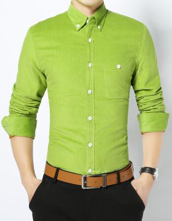 绿色衬衫男