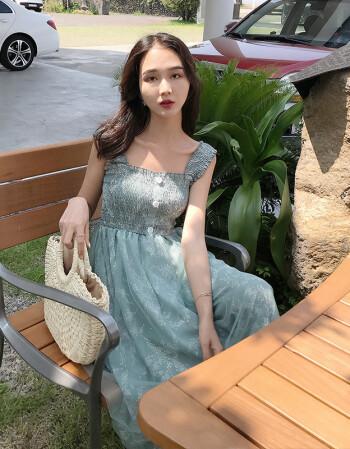 长裙00后高中碎花社会裙子快手女生韩版吊带群夏2018新款潮流显瘦