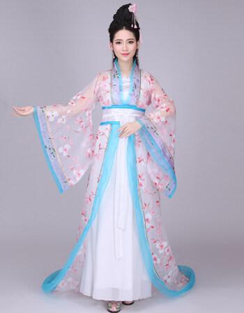 古装女服装仙女拖尾贵妃装唐朝公主cos舞台演出服飘逸