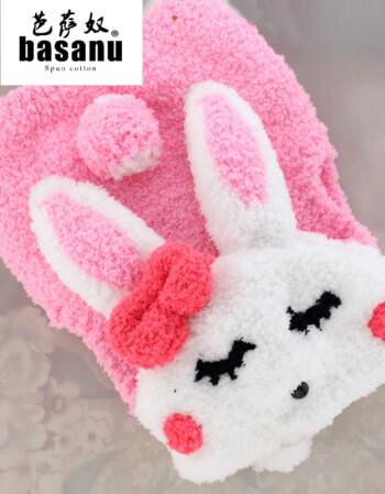 毛衣材料包diy手工编织珊瑚绒毛线儿童棒针送教程 粉红色 兔子马甲