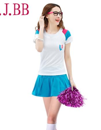 沐欣店2016韩版时尚中学生校园运动会舞台舞蹈演出服装 拉拉队开场舞图片
