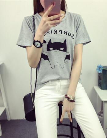 实拍夏装新款女士短袖t恤韩国少女闺蜜姐妹装宽松学生