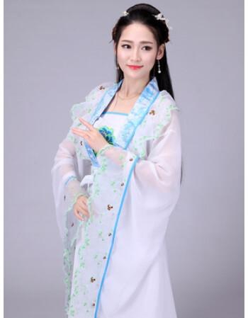 2018 古代服装女儿童公主贵妃飘逸汉服仙女公主古装服装演出服长裙图片